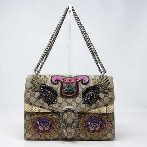 Authentic Gucci Medium Dionysus Python Embroidered